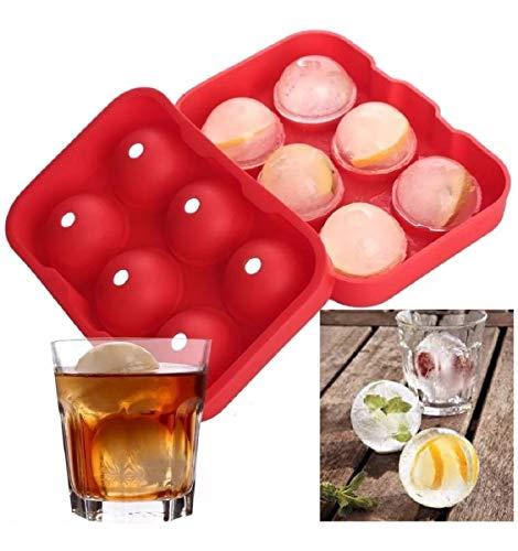 Forma Gelo Silicone Redondo Bar Esferas Whisky Bebida Vodka