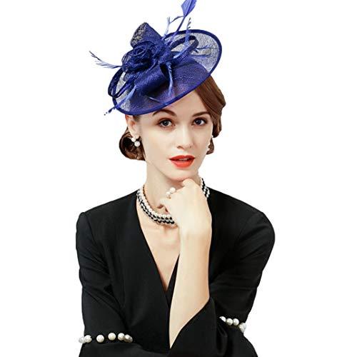 OLADO Fascinateur pour Les Femmes de la Mode élégante de Charme Beige Pilulier Hat