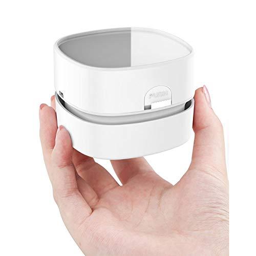 Fiunkes Tragbarer Mini-USB-wiederaufladbarer drahtloser Staub-Kehrmaschine Kleiner Büro-Desktop sauberer Maschinentisch-Staubsauger für Zuhause und Auto,Rechargeable