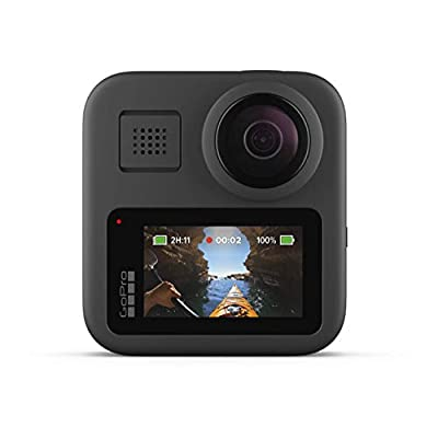 GoPro MAX — Waterproof 360 + Traditional Camera with Touch Screen Spherical 5.6K30 HD Video 16.6MP 360 Photos 1080p Live Streaming Stabilization (Renewed) from
