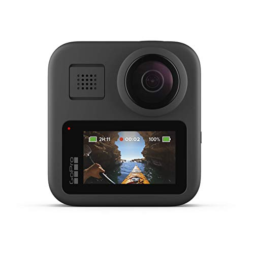 GoPro MAX Waterproof 360 + Traditional Camera with Touch Screen Spherical 5.6K30 HD Video 16.6MP 360 Photos 1080p Live Streaming Stabilization (Renewed)