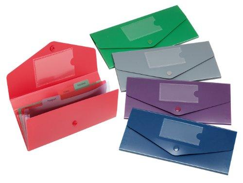 Snopake 15699Fusion DL Reise-Dokumententasche, verschiedene Farben (5Stück)