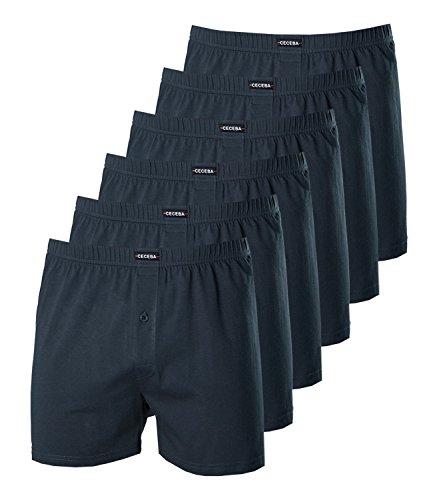 Ceceba Herren Boxershorts 2675 6er Pack, Farbe:Blau;Wäschegröße:3XL;Artikel:blau 2675-6979