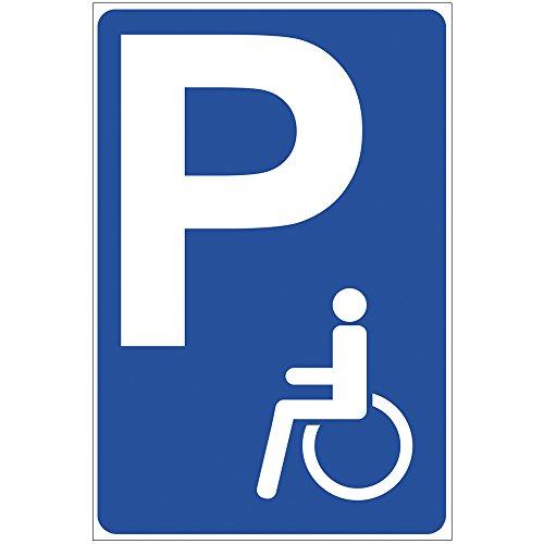 """Schild """"Behindertenparkplatz"""" aus Alu / Dibond 200x300 mm - 3 mm stark"""