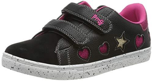 PRIMIGI Damen PRS 44563 Sneaker, Schwarz (Nero/Nero 4456311), 39 EU