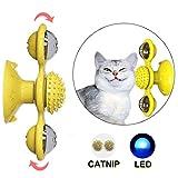 猫のターンテーブルからかいインタラクティブなおもちゃ、風車の猫のおもちゃのターンテーブル、アイスボールからかい、ペットのおもちゃのマッサージ、くすぐったい猫のヘアブラシ
