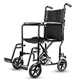 YHtech Walker Ancianos Manual de Silla de Ruedas Ligera discapacitados Mano Patinete Antideslizante bastón con el Hospital