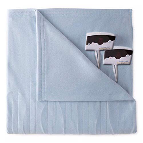Biddeford 1004-9052106-535 Comfort Knit Fleece Electric Heated Blanket King Cloud Blue