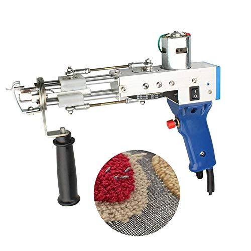 TZUTOGETHER Pistola eléctrica para Tejer alfombras,tufting Gun Loop Pile,Juego de máquina para Tejer alfombras,máquina para Tejer de Mano,Herramientas para Hacer alfombras,5-45 Puntadas/s(Ajustable)