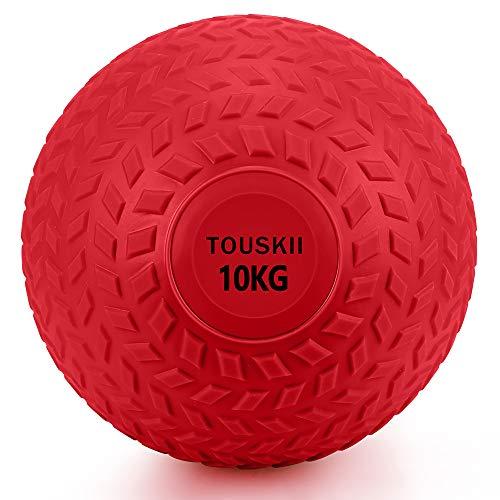TOUSKII メディシンボール 筋力トレーニング スラムボール エクササイズ(10kg red)