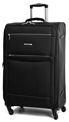 DK Luggage Starlite Lightweight WLS08 Large 28' Suitcases 4 Wheel Spinner Black