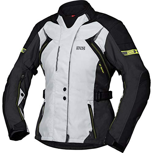 IXS Motorradjacke mit Protektoren Motorrad Jacke Tour Liz-ST Damen Textiljacke grau/schwarz/gelb M, Tourer, Ganzjährig, Polyester