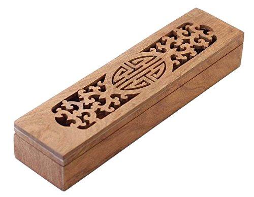 Xi Wooden Chopsticks Box Flatware Storage Box Cutlery Organizer Case
