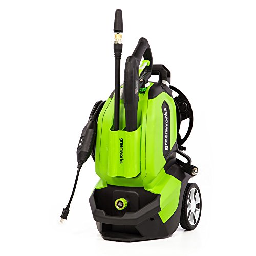 Save %21 Now! Greenworks GPW1802 Pressure Washer, 1800 PSI, green