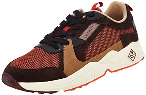 GANT Nicewill Sneaker, Zapatillas Hombre, marrón y Naranja, 41 EU