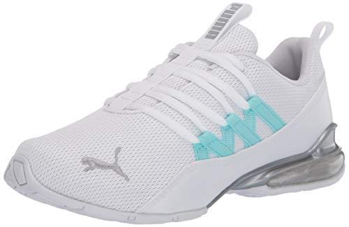 PUMA womens Riaze Prowl Sneaker, Puma White-gulf Stream, 11...