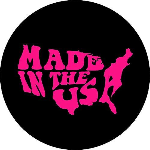 LYMT Word Art Made in The USA La Cubierta de Repuesto Rosa para 255 / 70R18 se Adapta a RV Scamp, Trailer (menú desplegable de tamaño