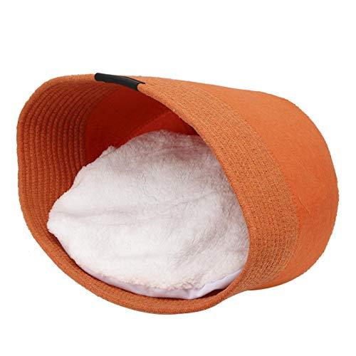 SALUTUYA Cama para Dormir para Gatos amigable con la Piel para Todas Las Estaciones(Orange)
