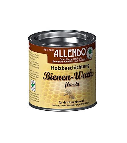 Allendo Bienenwachs flüssig 375ml von Bindulin, biologische Holzbeschichtung Bienen Wachs im Innenbereich, umweltfreundlich, wasserverdünnbar, geeignet für SpielzeugFarbe: natur