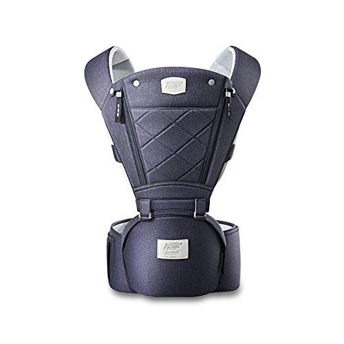 SONARIN 3 in 1 Atmungsaktiv Hipseat Baby Carrier,Babytrage, Frontöffnung Design, Sonnenschutz, Multifunktion,Angepasst an das Wachstum Ihres Kindes(Blau)