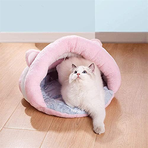 ZXCVBNN Bed-Semi-semicerrado Cama Suave de Cuatro Estaciones para Gatos y Perros, adecuados para Gatos pequeños y medianos y Suministros para Mascotas de Perros