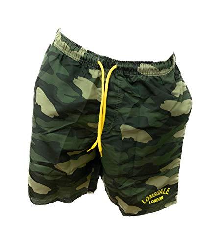 Lonsdale Boxer Mare Costume Uomo Pantaloncini Da Bagno Swim Shorts (Camouflage Army 20263, M)