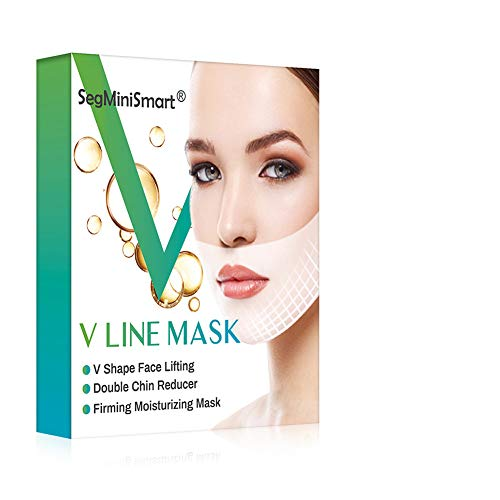 V Line Mask, Chin Up Patch, Double Chin Reducer Mask V Shaped Slimming Face Mask Moisturizes and Tightens Mask
