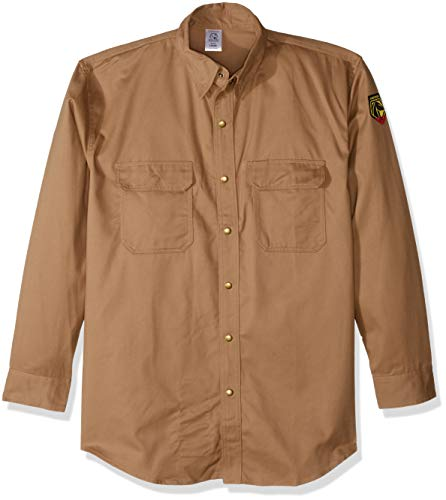 Revco Black Stallion Fr Flame Resistant Cotton Work Shirt - FS7-Khk Large