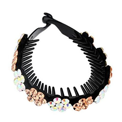 Mesdames Elegant Rhinestones Hair Bun Décor Ponytail Clip Hair Accessories, No.13
