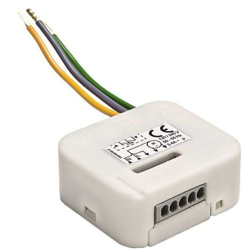 Licht Simu Micro-ontvanger Hz02 voor Simu Hz-radiosysteem en Somfy RTS radiosysteem (lichtcontrole) 230 V / 500 Watt