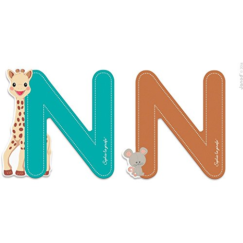 Janod Lettre série Sophie LA Girafe (Bois) - N (J09558), Multicolore (1