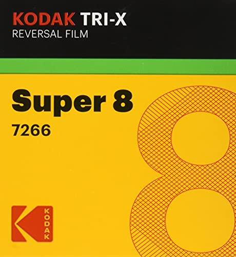 Kodak TXR-464 Tri-X Reversal Black & White, Silent Super 8 Movie Film, 50 Foot Cartridge, Film #7266, ISO 200 / 160, USA
