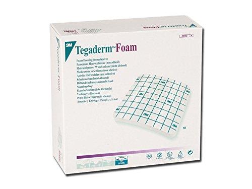 3M TegadermTM Foam voor Tracheostomia – 9 x 9 cm niet-klevende polyurethaan medaille, 10 stuks