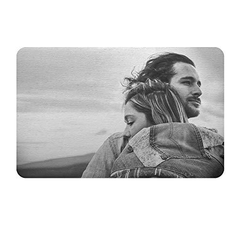 Queenberry  SPA1011-L-PAR, Portafogli  Donna Nero Love You Text + Photo Engraving Regular