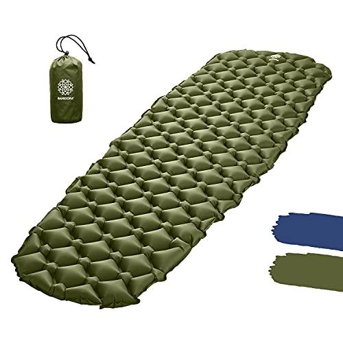 Bahidora Isomatte Outdoor. Isomatte Camping Ultraleicht. Camping Matratze. Outdoor Matratze. Schlafmatte kleines Packmaß - ideal für Camping, Trekking und Backpacking (grün)