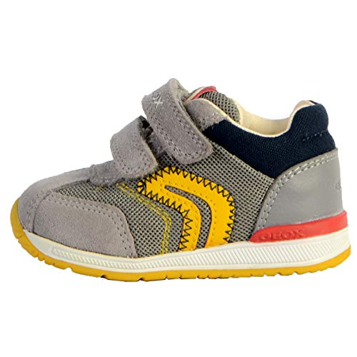 Geox Jungen B RISHON Boy B Sneaker, Grau (Grey C1006), 19 EU
