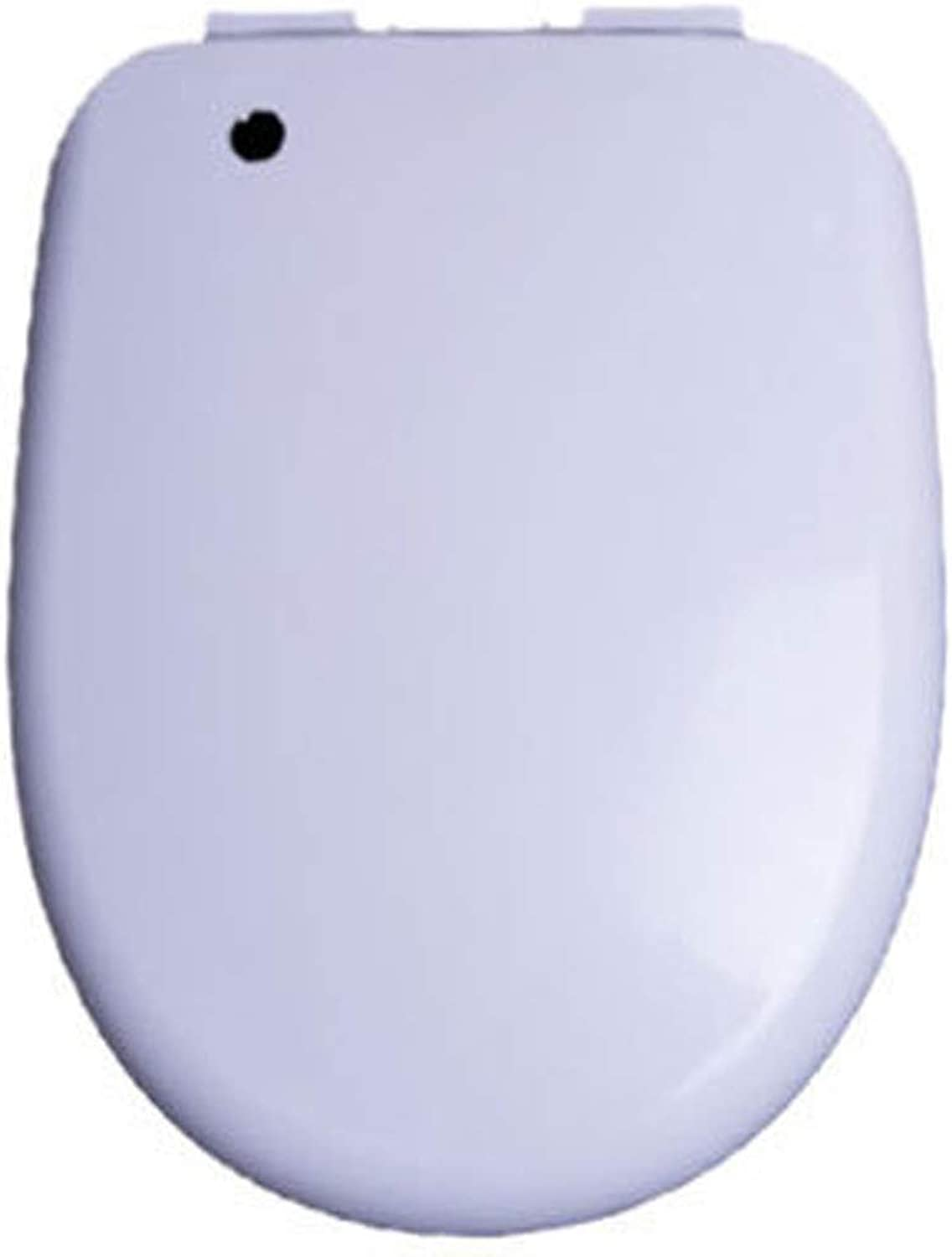 HYYSH Toilet cover descending toilet bowl cover thick U-shaped V-type toilet seat toilet seat (Size   U)