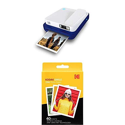 KODAK Printomatic - Cámara de impresión instantánea, Azul + Paquete de 40 Hojas