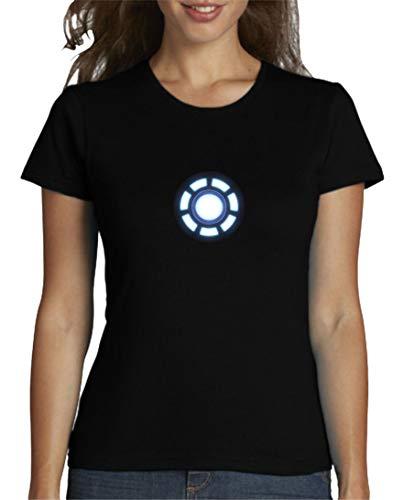 The Fan Tee Camiseta de Mujer Iron Man Los Vengadores Hulk Stark Industries 001 S