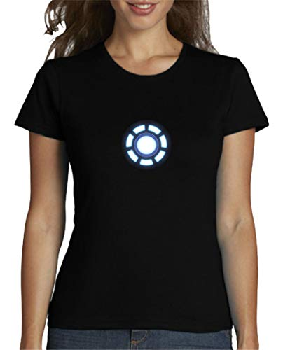 The Fan Tee Camiseta de Mujer Iron Man Los Vengadores Hulk Stark Industries 001 M