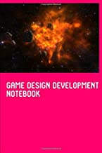 Game Design Development Half Graph Half College Paper Notebook: Blank Half Lined Half Quad Ruled Squared Graphing Grid Journal