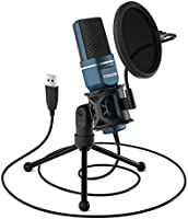 TONOR PC Microphone USB Computer Condenser Gaming Microphone Plug & Play with Tripod Stand and Pop Filter for Vocal...