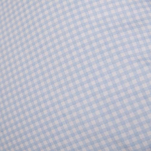 Hans-Textil-Shop Stoff Meterware Vichy Karo 3x3 mm Hellblau Baumwolle Karomuster Gedruckt Kariert - 1 Meter
