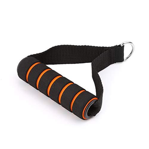sitonelectic Mango de cuerda con resorte en forma de D, con cuerda elástica para banda de resistencia, agarre de espuma para equipo de gimnasio
