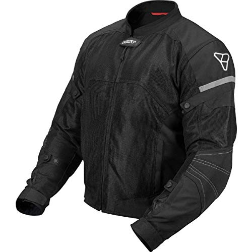 Pilot Motosport Men's Direct Air Mesh Motorcycle Jacket (V3) (Hi-Vis, X-Large)