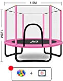 Asnails 60 Zoll Rundes Trampolin Mit Sicherheitsnetz, Trampolin Für Turner, Trampolin Für Kinder...
