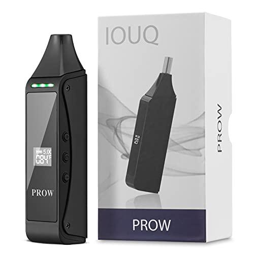 IOUQ Dry Herb Vaporizer Prow Quarz-Heizkammer Multifunktions-OLED-Display Glasmundstück Volle Temperaturkontrolle Schnelle Hitze Einfach zu bedienen