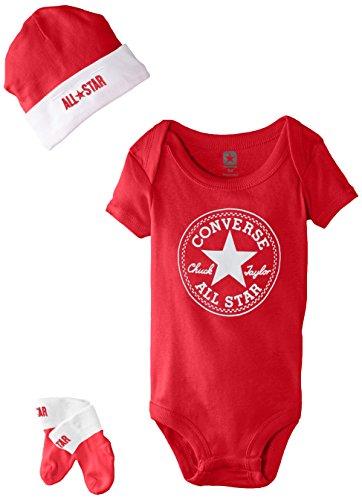 Converse Baby - Unisex Bekleidungsset 3 PC Set, Gr. One size (Herstellergröße:One Size), Rot