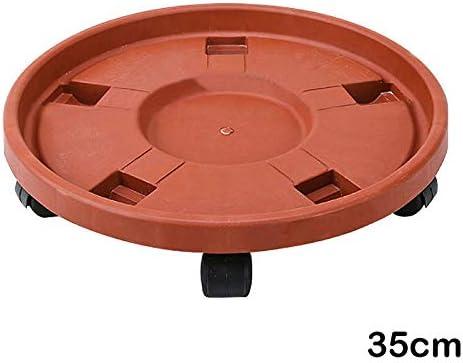balc/ón y jard/ín LYNN Soporte para plantas movible bandeja de 35 cm de di/ámetro interior bandeja para macetas con rueda universal resistente para interiores y exteriores
