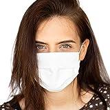 Occulto 2 Stück Wiederverwendbare Mundschutz- Behelfs- Maske (2-lagig) in weiß | Waschbare Baumwoll-Maske (2Stück)